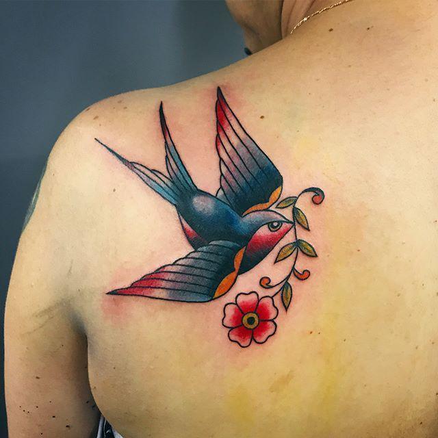 jaskółka ptak tatuaż